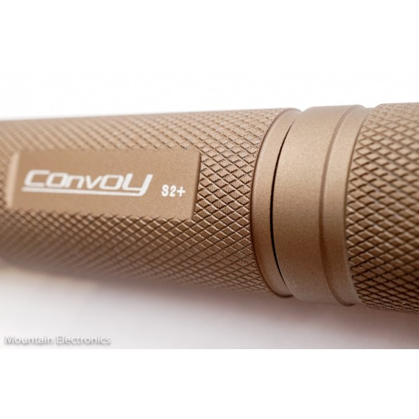 Convoy S2+ Flashlight Host - Sand / Desert Tan