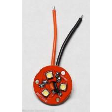 (3) Nichia NVSL219C D280 5000K 80+ CRI LEDs on 20mm 3XP Copper Noctigon + Pre-Bridged