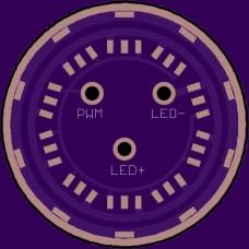 26mm 20x7135 7.6A Slave Board PCB - Bare