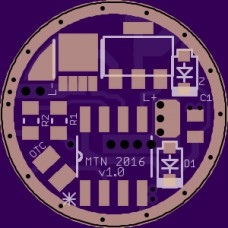 15mm Single-Sided FET+7135 Driver PCB - V1.0 - MTN-15DDm