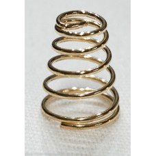 Gold Plated Spring 5mm TD, 8mm BD, 10mm H, 0.6mm WT
