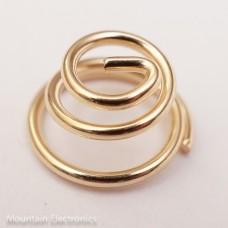 Gold Plated Beryllium Copper Spring 5mm H x 11mm D